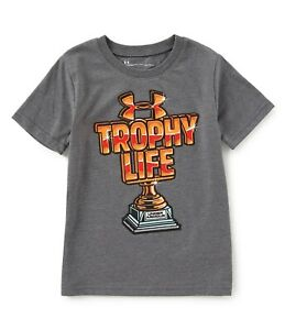 Under Armour Trophy Life — Toddler Boys' Short Sleeve Shirt Size 5 Carbon Heathe