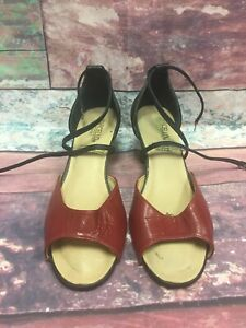 Vintage Marcello Heels Black And Red Sz 8 $32.00