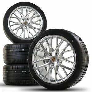 Original Porsche 21 inch 971 Panamera Sport Design summer wheels summer tires