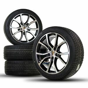 Porsche 21 Inch Cayenne E3 9Y0 Exclusive Design Winter Wheels Winter Black