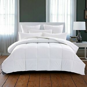 Puredown® 600 Fill Power Lightweight Down Comforter Duvet with 100% Cotton Cover