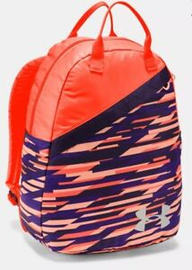Under Armour UA Girls Favorite Backpack 3.0 School Laptop Bag Peach Purple $45