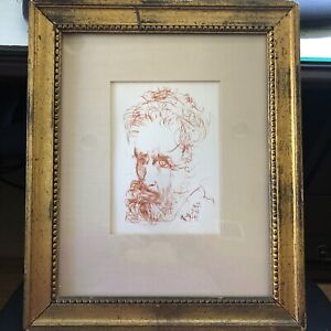 Salvador Dali Etching of Michelangelo Signed in plate Collector's Guild COA. $975.00