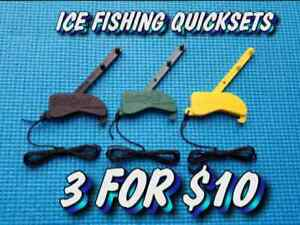 Winter Special Quickset Automatic Tip Up Ice Fishing hook setters