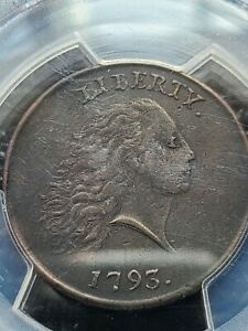 1793 CHAIN LARGE CENT PCGS XF DETAILS! W PERIODS S-3 B-4 R-3 A REAL BEAUTY!