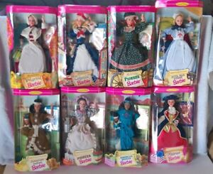 Barbie lot of 8 Complete set of American Stories Collection Mattel 1990s