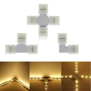 2 4 5 pin 10mm Connector L T X Shape 5050 5630 LED Single Color RGB SMD Strip