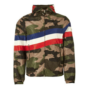 Nw MONCLER Light Bomber jacket ALLAIN 41655 539K7 camouflage green hooded wCODE