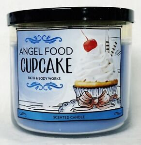 1 Bath & Body Works ANGEL FOOD CUPCAKE Large 3-Wick Scented Candle 14.5 oz