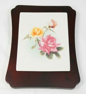 Cheese cutting board roses Avon gift