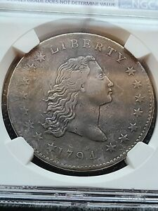 1794 FLOWING HAIR DOLLAR NGC VF DETAILS B-1 BB-1 R-4 VERY RARE PRO