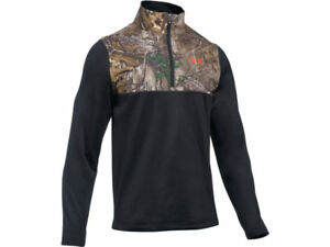Realtree Xtra Camo Under Armour UA Caliber ¼Zip Hunting LS Shirt Large L Or 3XL