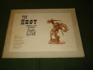 1963 EXHIBITION BOOKLET THE WEST IMMORTALIZED IN BRONZE REMINGTON INDIANS $25.00