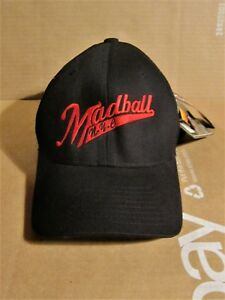 MADBALL BLACK WRED LETTERING FITTED BASEBALL HATCAP UNWORN WITH TAGS NYHC