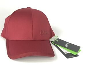 Hugo Boss Men's Adjustable Sport Hat Red Breathable Athlisure New With Tags