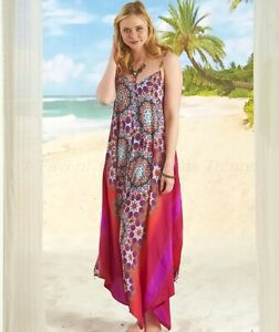 Women's Tropical-Colored Breezy Scarf Dress - Medallion Large (14/16)