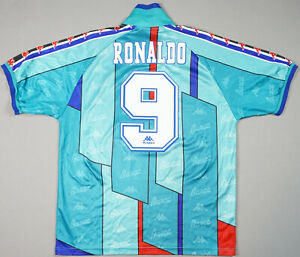 661c00da00c Ronaldo Kappa Barcelona Green Away Jersey 1995-1997 Football Shirt Camiseta  XL