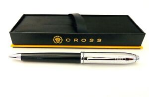 Cross Townsend BP Pen Black Lacquer & Chrome New In Box Comes WCross Journal!