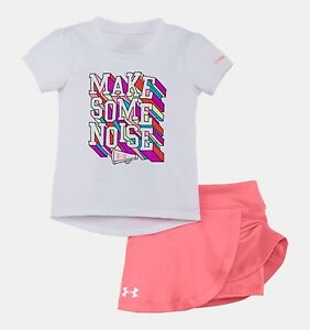 Baby Under Armour *Make Some Noise* 2 Piece Skirt Set Size 24 Months $17.99
