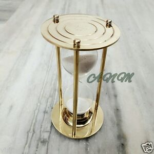 Sand Timer Brass Hourglass Vintage Marine Table Top Decor Item Gift $32.00