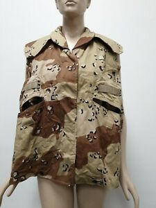 (R9E) US ARMY PASGT Vest Cover Desert Camo Pattern Size Small Medium Military