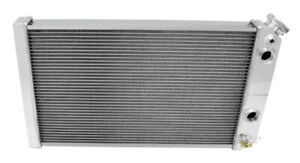 Chevy S10 V8 conversion Dual-Pass Polished Aluminum 3 Row Champion Radiator, LS