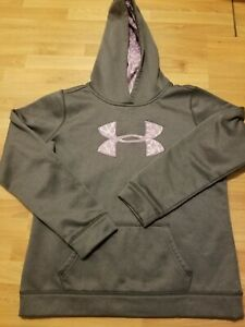 UNDER ARMOUR HOODIE GIRLS YOUTH XLARGE GRAY $14.99