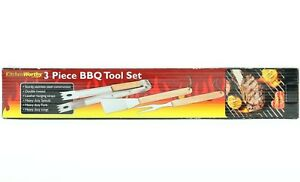 KitchenWorthy Barbecue 3 Piece Grilling Tool Set