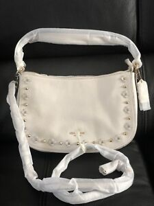 40%offSale Coach 37711 Chelsea In Floral Rivets Cross Body Dark Antiquewhite $99.00