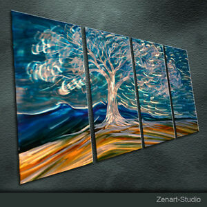 Shining Metal Wall Art Original Painting Sculpture Indoor Outdoor Decor-Zenart