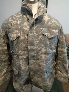 GI M65 Field Jacket ACU Camo Genuine US Military Issue LARGE WLINER