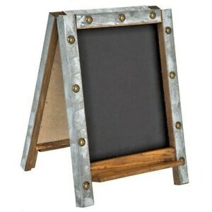 Easel Chalkboard With Galvanized Frame. Free Standing . Functional Home Decor