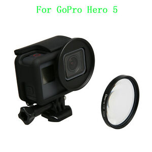 52mm HD Close-Up Macro Lens +10 Filter + Lens Adapter For GoPro Hero 5 Camera TR