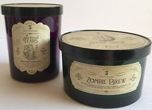 HAVEN STREET SIRENS TEARS ZOMBIE BREW SOY WAX GOTHIC CANDLES 2 PIECE SET