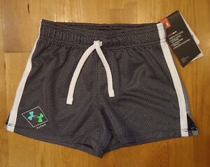 NWT UNDER ARMOUR SHORTS LOOSE FIT BLACK GIRLS XSMALL YXS $16.19