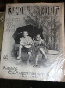 #1016Under Storm March1900 C A Grimm Seldom Seen Sheet Music $19.55