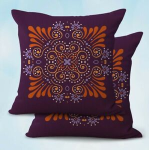 2PCS flower mandala yoga meditation replacement outdoor cushion covers
