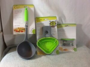 Set of 3 HEALTHY STEPS Serving Ladle Pasta Basket & Cheese Grater NEW MUST HAVE