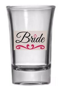 Personalized Bridal Shot Glass Hand painted Bride Shower Party👰🏼