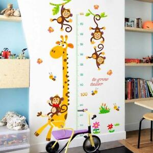 Giraffe Height Chart Measure Wall Sticker Decal Removable Kids Baby Room Decor