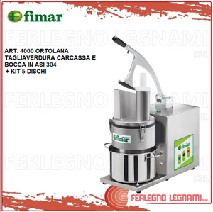 Vegetable Cutter L'Ortolana + Kit 5 Discs with Engine 3ph or 1ph Fimar 4000