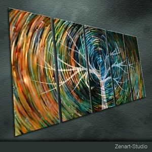 Shining Metal Wall Art Abstract Painting Sculpture Indoor Outdoor Decor-Zenart