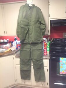 Vintage 1985 Chemical Protective Suit Sz MEDIUM Army Military NOS