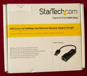 Fast Ethernet Adapter Dongle USB 2.0   by StarTech                    #308X