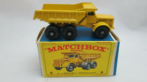 Matchbox Lensey Euclid Qarry Dump Truck #6 New in original box