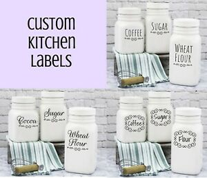 Set Custom Kitchen Pantry Food Container Spice Label Organization Decor Decal