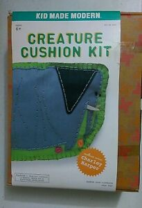 Kid Made Modern Creature Cushion Kit Elephant Embroidery Craft Sewing Kids NEW $10.99