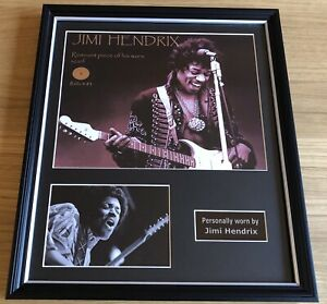 JIMI HENDRIX Stunning Bespoke Framed Piece of Red Scarf worn by Jimidocumented!