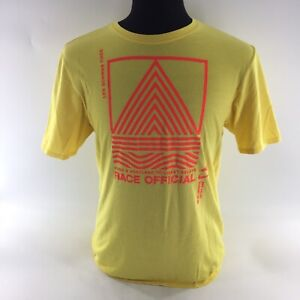 Nike Dri Fit T-Shirt Hood & Portland Coast Yellow Graphic Tee Sz Large S2A