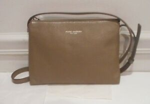 NWT Marc Jacobs New York Taupe Tan Pebbled Genuine Leather Cross Body Bag